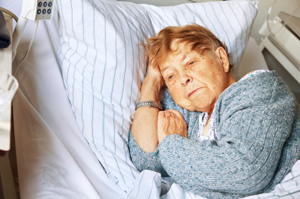 Photo of woman in nursing home