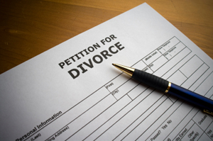 Photo of divorce papers