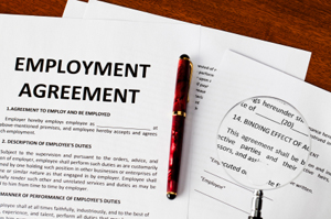 Employment lawyers review employment contracts including non compete agreements, termination agreements & severance pay