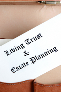 Photo of a living trust document