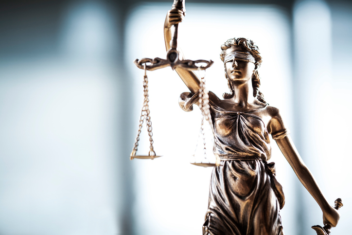 Statue of justice, scales